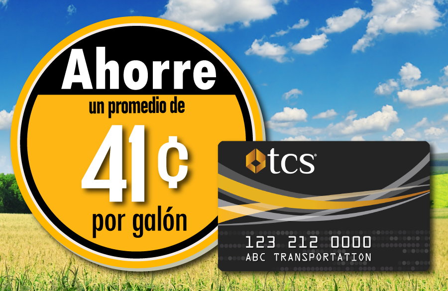 TCS Fuel Discounts at in-network truck stops average 41 cents per gallon