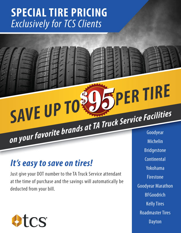 Discounts on Tires at TA Petro