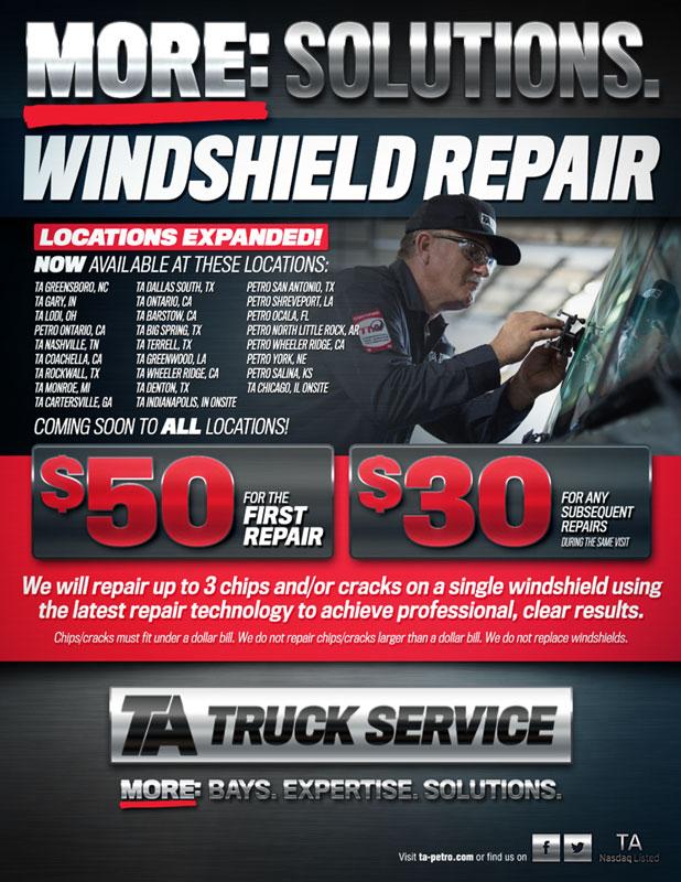 Windsheild Repair at TA Petro